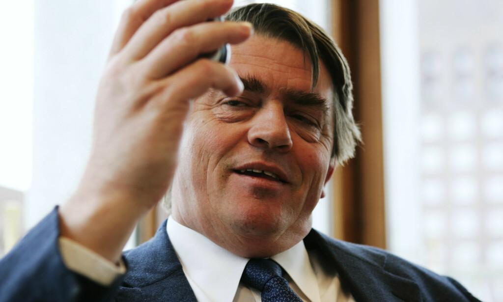 MERKELIG: Investor og forvalter Jan Petter Sissener syns det fremstår som merkelig å invitere til et seminar av den typen Nicolai Tangen holdt noen måneder før han ble utnevnt til sjef i oljefondet. Foto: Erlend Aas, NTB scanpix