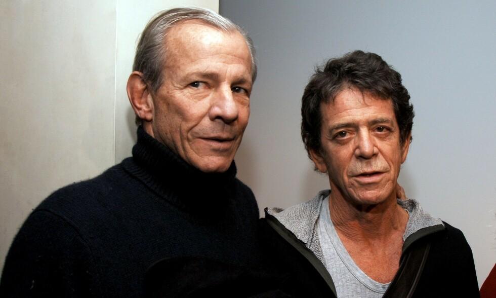 GIKK BORT: Den verdenskjente fotografen Peter Beard (til venstre) ble søndag funnet død etter en 19 dager lang leteaksjon. Her med kollega Lou Reed i 2006. Foto: NTB Scanpix