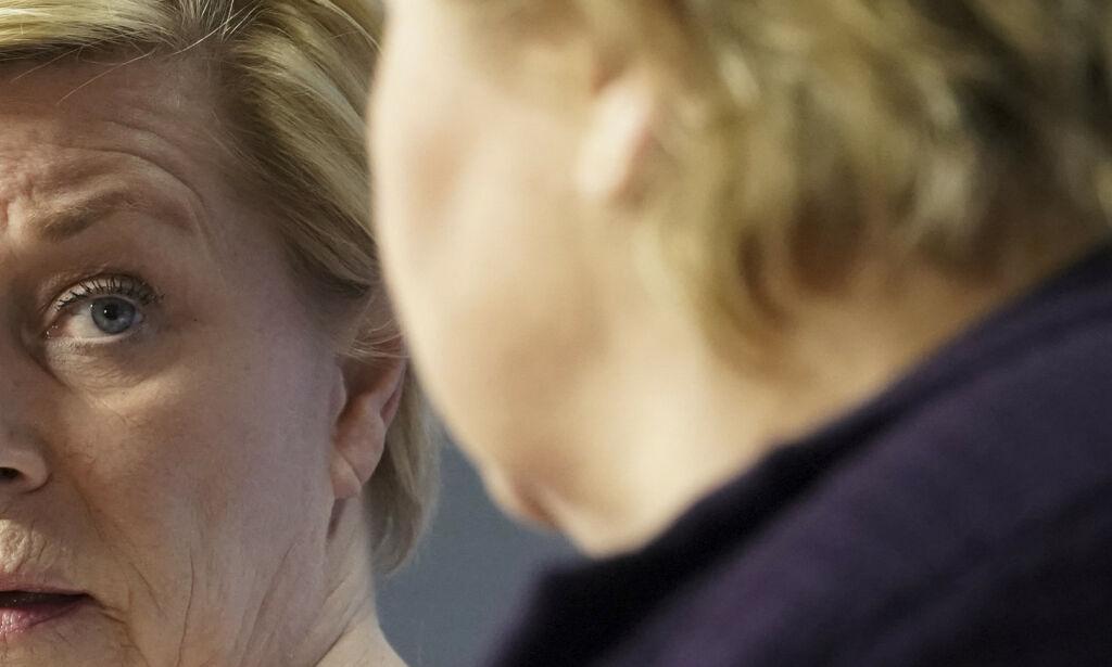 image: Siv Jensen truer med regjeringskrise