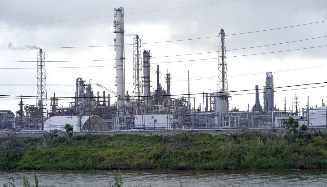 Motiva-raffineriet i Port Arthur i Texas er det største oljeraffineriet i Nord-Amerika. Illustrasjonsfoto: David J. Phillip / AP / NTB scanpix