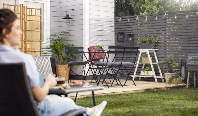 KLART FOR SOMMEREN: Med litt innsats, er uteområdet klart for varme og lange sommerdager.