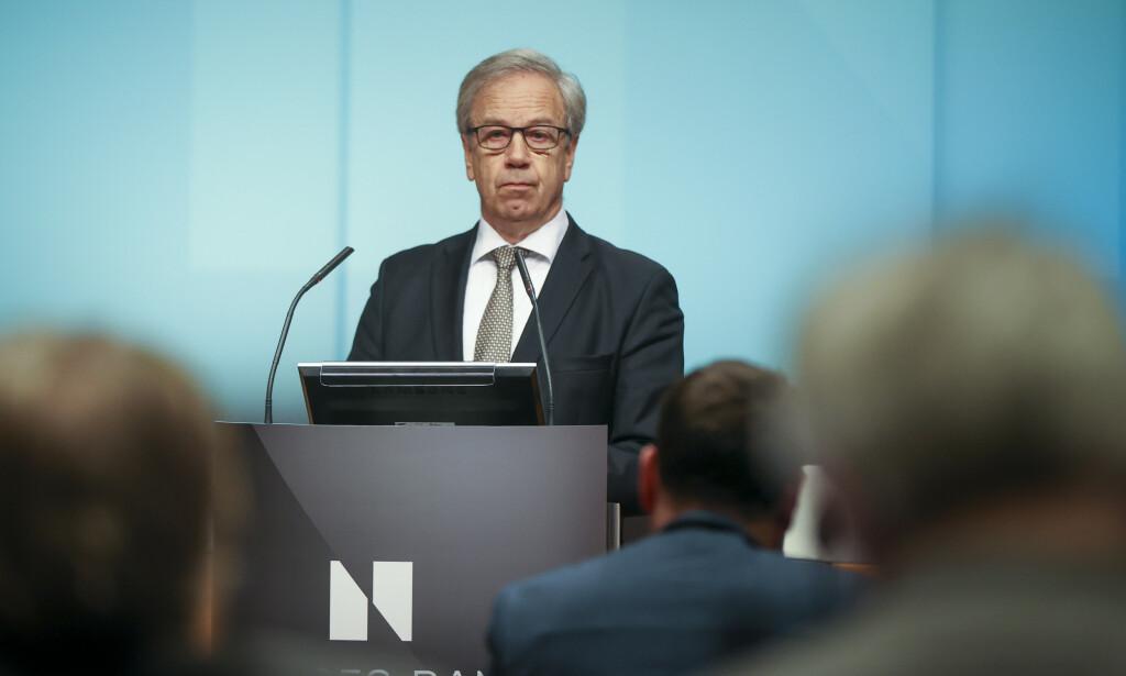 Sentralbanksjef Øystein Olsen har ansvaret for ansettelsen av Nicolai Tangen. Foto: Ørn E. Borgen / NTB scanpix.