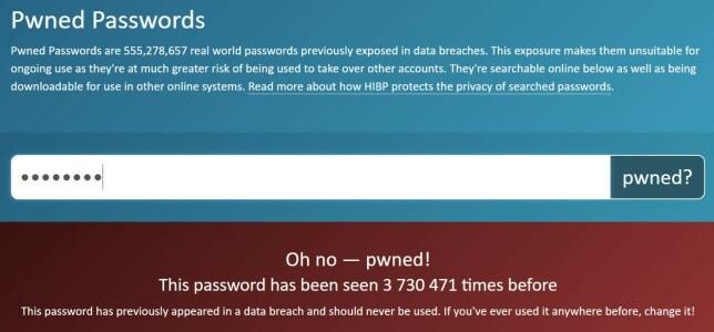 På haveibeenpwned.com/passwords kan du sjekke om passord er på avveie. De har også en API du kan bruke.