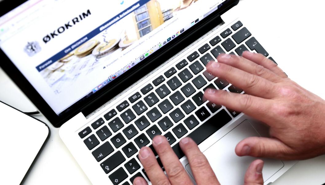 <strong>SVINDEL:</strong> Datakriminalitet kan regnes som kriminalitet som er rettet mot data og datasystemer, og kriminalitet hvor datautstyr benyttes som verktøy for å begå handlingen. Foto: Lise Åserud / NTB scanpix