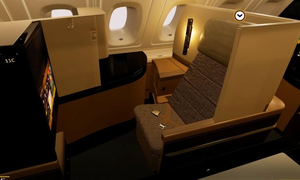 BUSINESS: Slik ser det ut på businessklasse hos Etihad Airways. Foto: Etihad Airways.