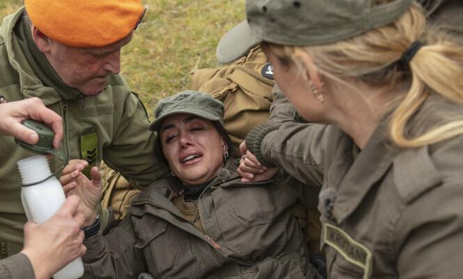 <strong>STERKE SMERTER:</strong> Mashadis skade sørget for enorme smerter for tv-profilen. Hun forteller at hun derfor fikk flere doser morfin. Foto: Matti Bernitz / TV 2