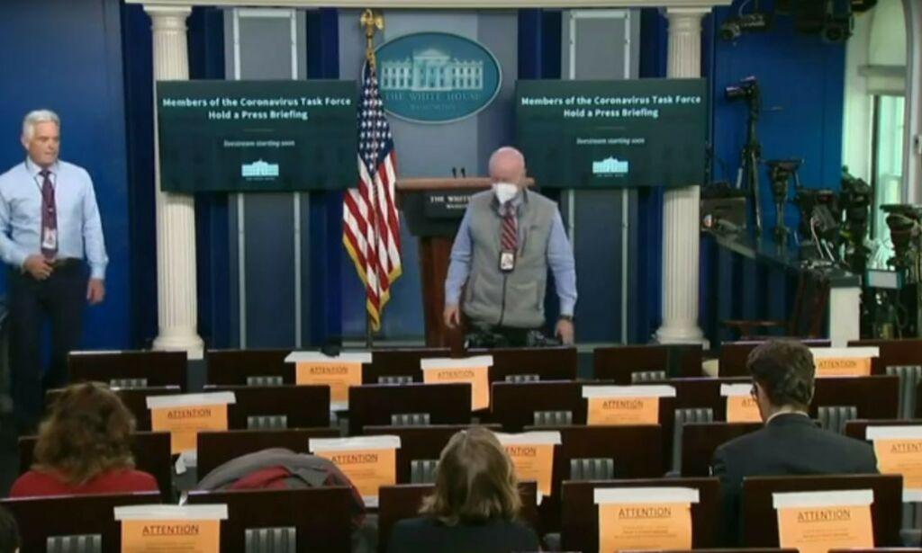 image: Video fra Det hvite hus viser ikke at covid-19 er en bløff