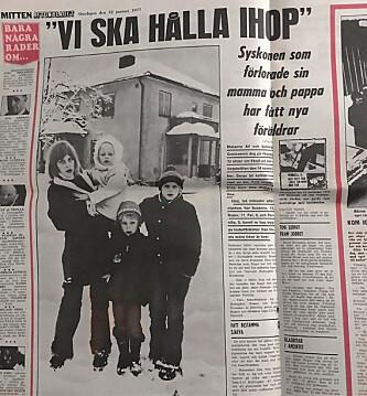To måneder etter ulykken skrev Aftonbladet at «søsknene har funnet seg til rette hos trygge fosterforeldre … den første vanskelige tiden er over». Det kunne ikke vært lenger fra sannheten.