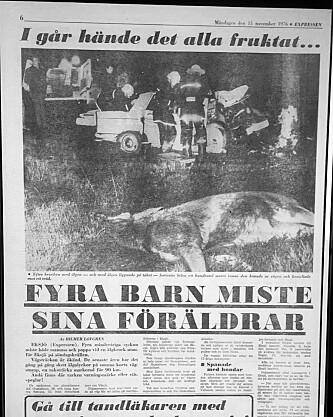Familien Gustafsson kolliderte med en elg rett utenfor Eksjö, og fire barn ble foreldreløse.