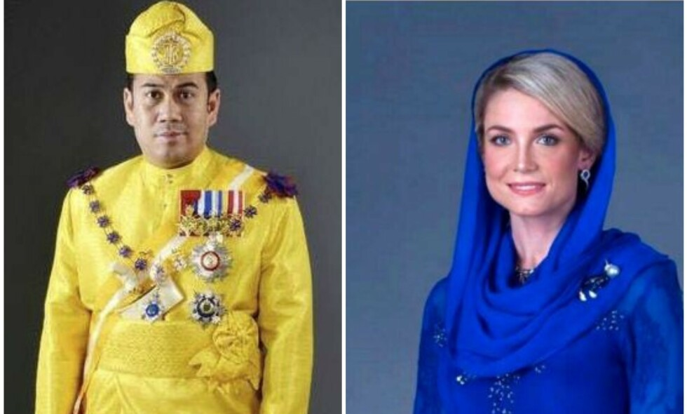BRYLLUPSDAG: Kronprinsen av Kelantan og Sofie Louise Johansson giftet seg i april i fjor. Nå åpner sistnevnte opp om sitt nye liv. Foto: Kelantan Palace