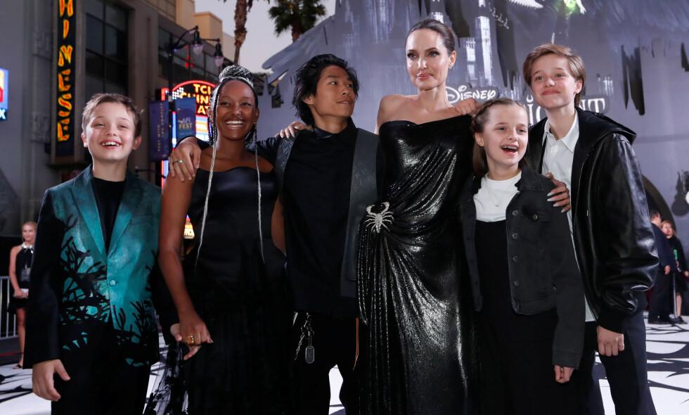 ÆRLIG: I en kronikk for magasinet Time skriver Hollywood-stjernen og seksbarnsmoren Angelina Jolie om hvordan det er å være hjemme med sine seks barn under corona-krisen. Foto: NTB Scanpix