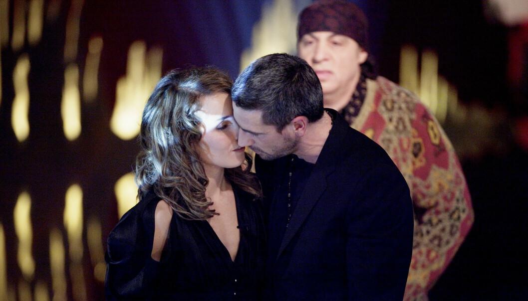 <strong>LYKKEN BRAST:</strong> Skuespiller Noomi Rapace og daværende ektemann Ola Rapace gjestet «Skavlan» sammen i 2010. Kort tid etter tok paret ut separasjon. Foto: Stian Lysberg Solum / NTB scanpix