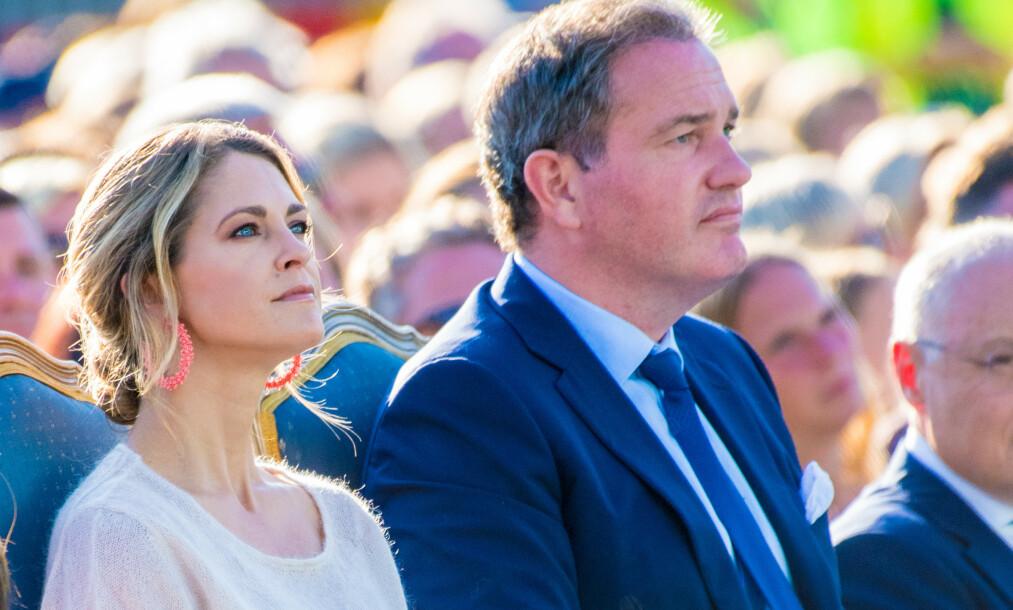 <strong>EKTEPAKT:</strong> Prinsesse Madeleine og Chris O'Neill signerte en ekteskapskontrakt da de giftet seg i 2013, i likhet med de resterende parene i den svenske kongefamilien. Foto: NTB Scanpix
