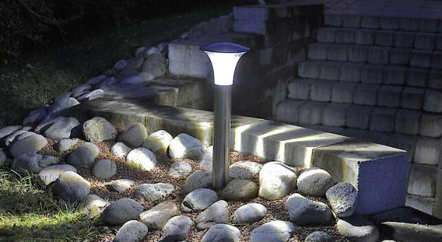 SUPER BRIGHT: Solcellebelysning med Super Bright LED som lyser ekstra sterkt.