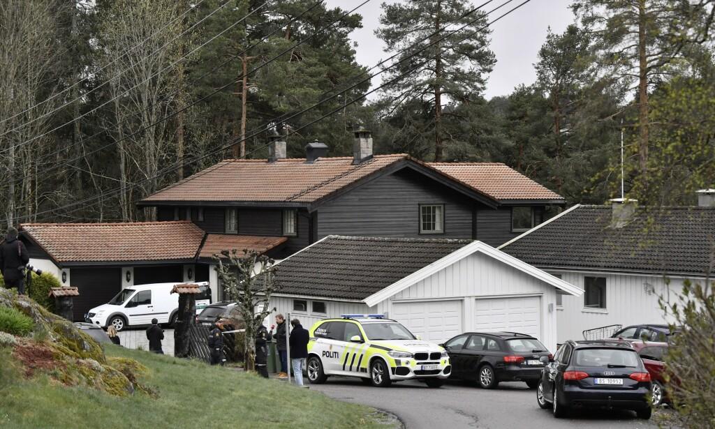 UKJENT: Hva som skjedde i dette huset den 31. oktober 2018, er fortsatt ikke kjent for offentligheten. Foto: Lars Eivind Bones / Dagbladet