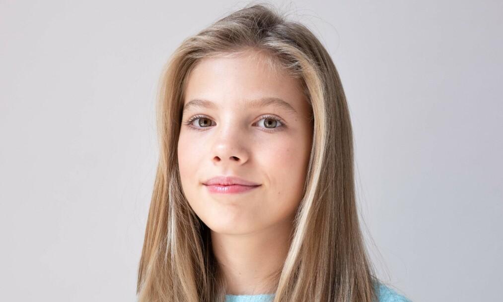 <strong>TENÅRING:</strong> I dag fyller datteren til spanske kong Felipe og dronning Letizia, Sofia, hele 13 år. Noen stor feiring vil det imidlertid trolig ikke bli. Foto: NTB Scanpix