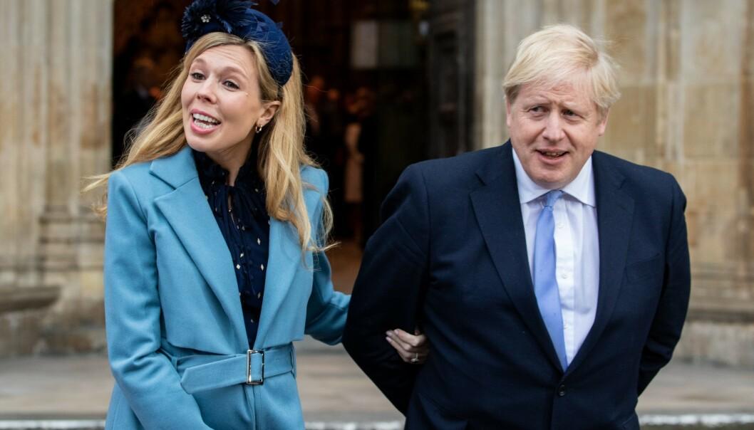 <strong>FORELDRE:</strong> Boris Johnson og kjæresten har fått en sønn. Foto: NTB Scanpix