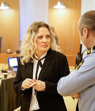 I RETTEN: Nina Bakken er politijurist. Her fotografert under rettssaken mot den antatte lederen av den kriminelle banden Young Bloods. Foto: Øistein Norum Monsen/Dagbladet