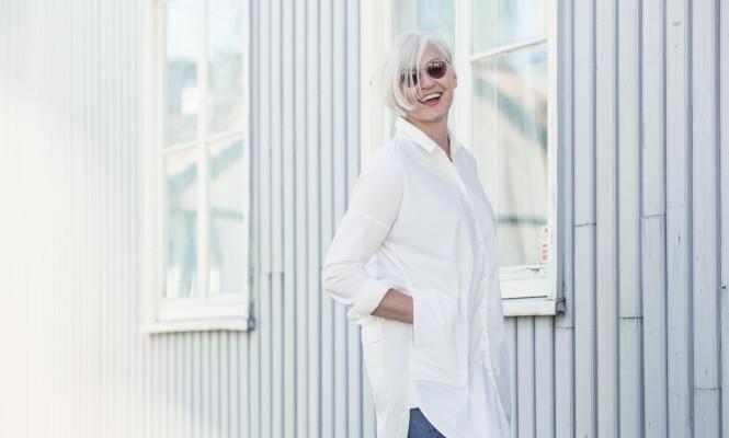 SKAL VÆRE ENKELT: Mette foretrekker at hår og makeup på henne selv, ikke er for tidkrevende. Foto: Astrid Waller