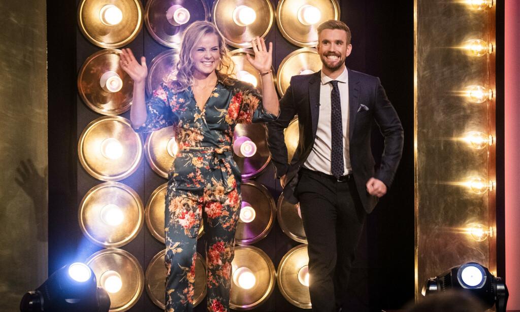 PROGRAMLEDERE: Helene Olafsen og Stian Blipp leder TV 2s «Senkveld» sammen. Blipp har imidlertid blitt syk å må nå holde seg hjemme. Foto: Lars Eivind Bones / Dagbladet
