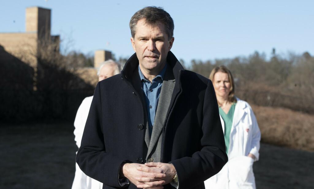 FORSKNINGSLEDER: Forskningsrådet og John-Arne Røttignen leder WHOs globale studie av Remdesivir i behandling av Covid-19. Foto: Terje Pedersen / NTB Scanpix