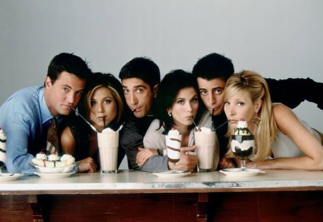 <strong>SAMLET:</strong> «Friends», eller «Venner for livet» som den heter på norsk, ble raskt en av de mest populære TV-seriene i hele verden. . Foto: Warner Bros/ Discovery Networks Norway