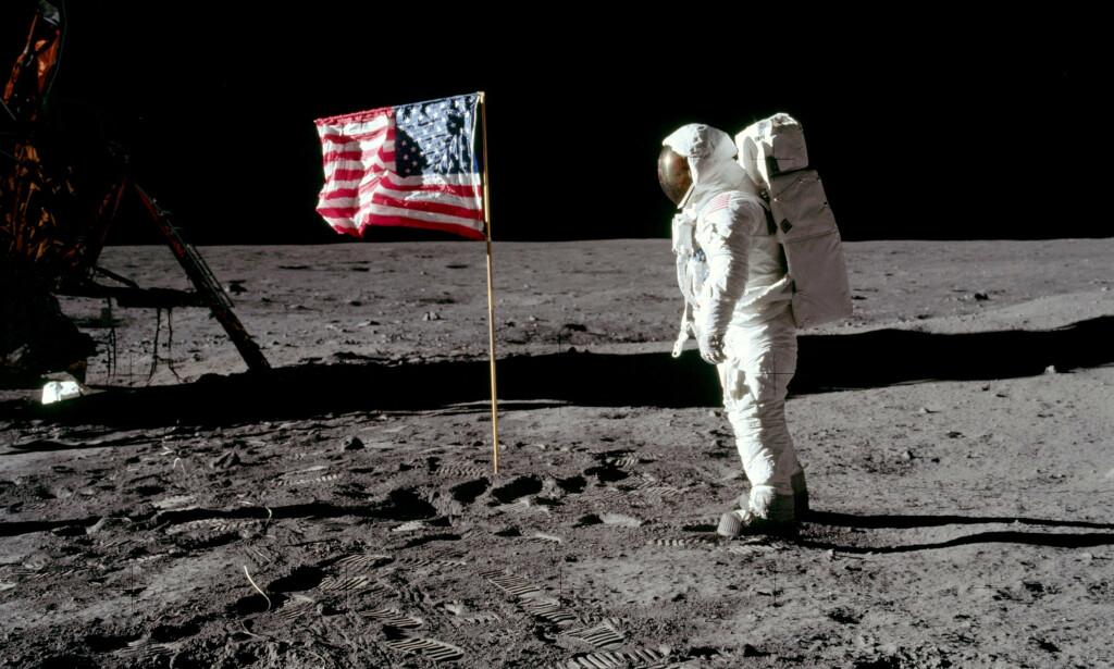 50 ÅR SIDEN: 20.juli i fjor var det nøyaktig femti år siden menneskene for første gang satte sine føtter på en annen klode - månen. Foto: NASA