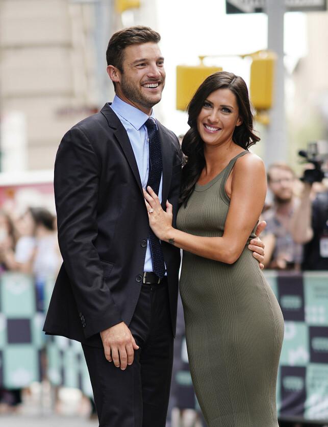 FORLOVET: Becca Kufrin fant kjærligheten med Garrett Yrigoyen i sin sesong av «The Bachelorette». Foto: NTB scanpix
