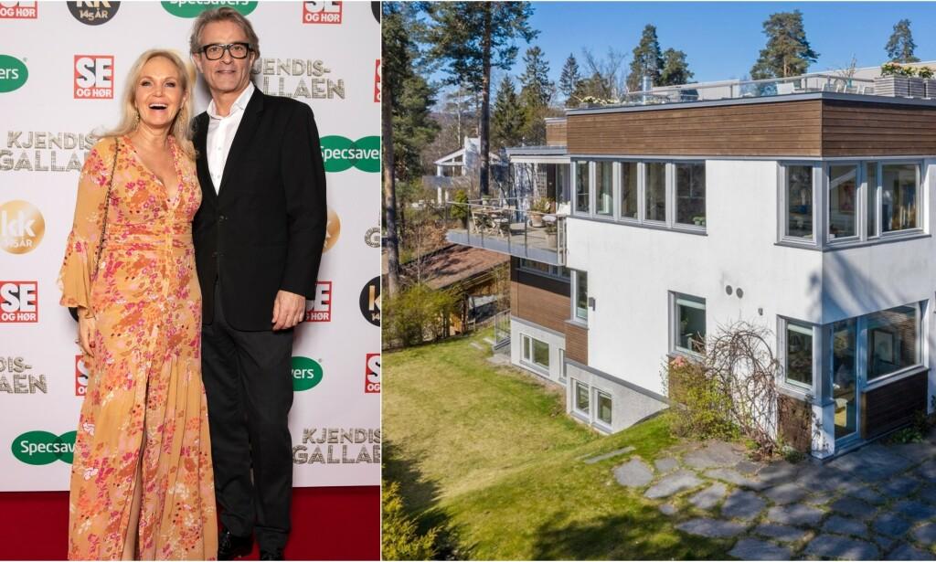 SOLGT: Guri Schanke og Dag Hvaring har nå solgt boligen på Ullern i Oslo etter bruddet. Foto: Andreas Fadum/ Se og Hør/ Steffen Rikenberg/ Inviso