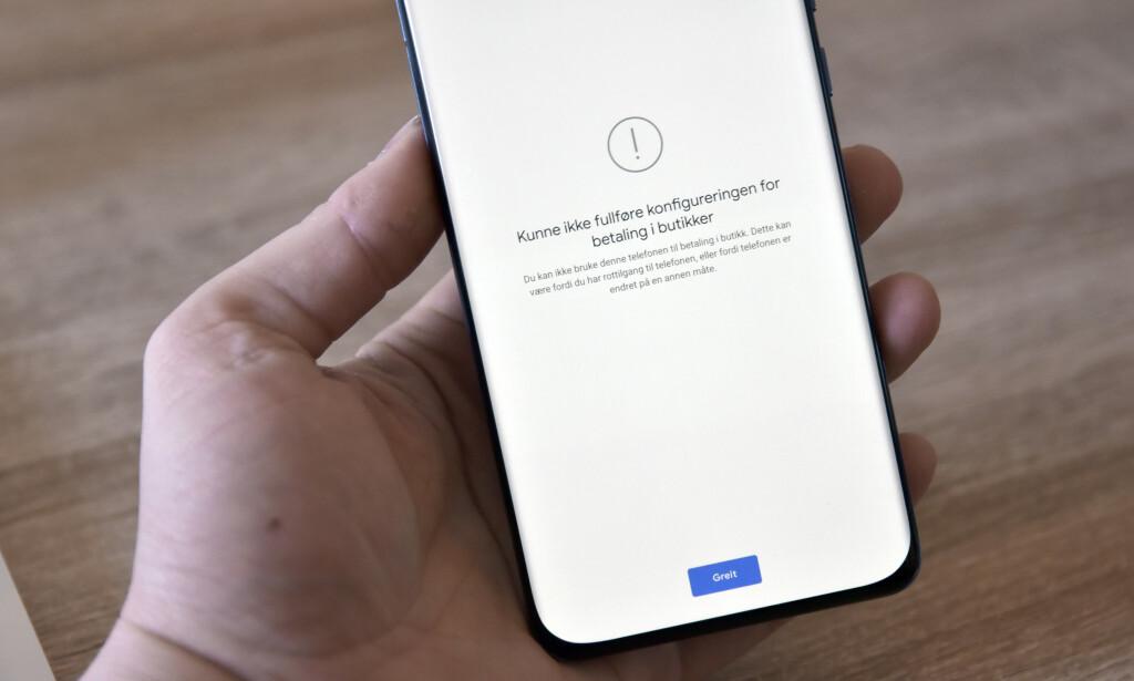 AI, AI: Google Pay fungerer ikke på P40 Pro, men det er omtrent det eneste også. Foto: Pål Joakim Pollen