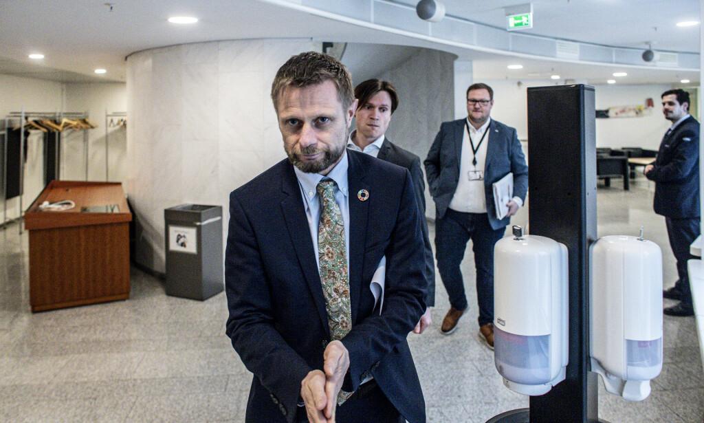 - IKKE BRA NOK: Helseminister Bent Høies (H) fireårsplan får hard kritikk fra Senterpartiets Kjersti Toppe. Foto: Bjørn Langsem