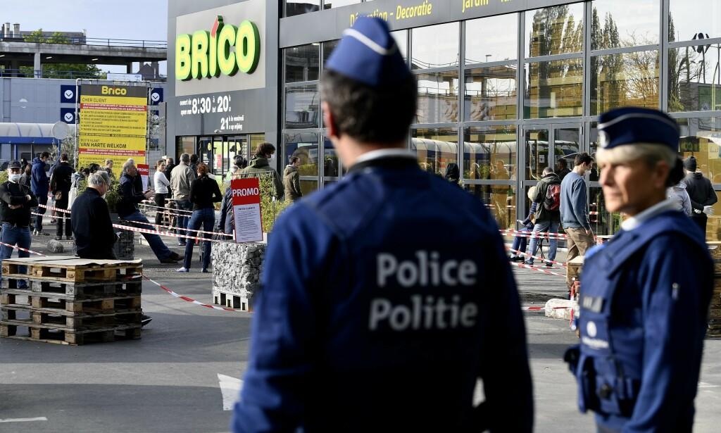 BELGIA: 18 april startet Belgia med en gradvis gjenåpning. Da ble enkelte butikker som ikke har vært ansett som «strengt nødvendige» gjenåpnet for første gang på fem uker. Her fra Brussel. Foto: Shutterstock/NTB Scanpix