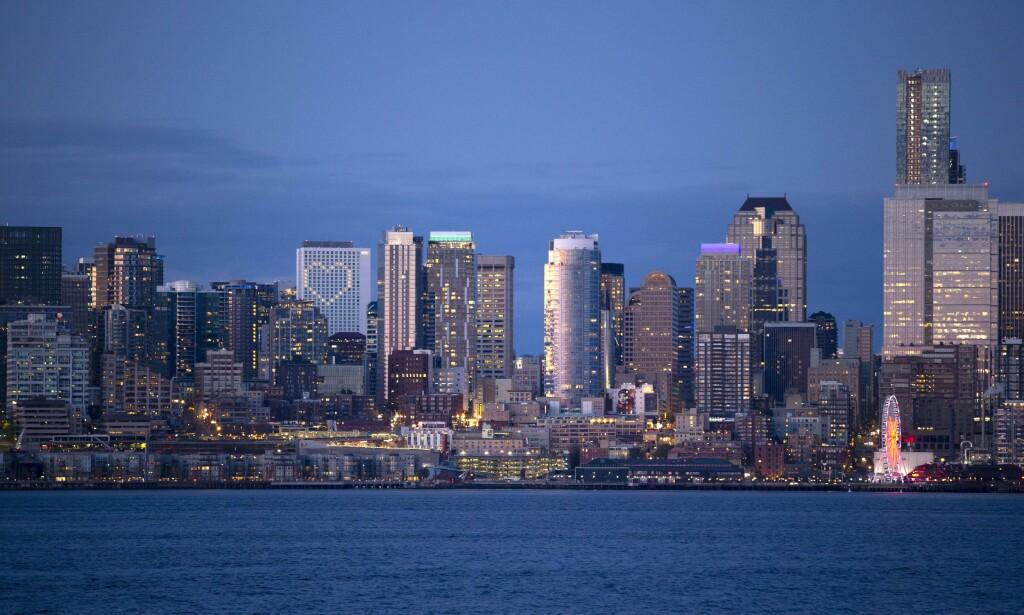 VEPS: Vepsen er påvist i delstaten Washington. Her illustrert ved største by, Seattle. Foto: Karen Ducey / Getty Images / AFP / NTB scanpix