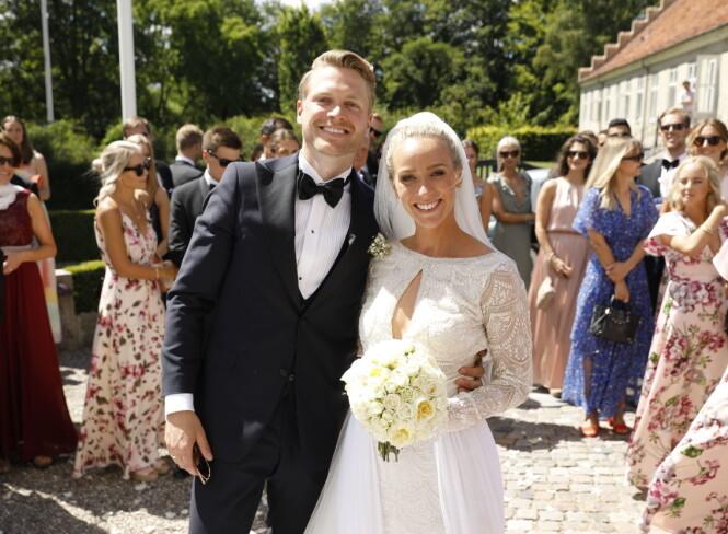 VORDENDE FORELDRE: I 2018 giftet Katarina Flatland seg med Harald Meling Dobloug. Nå venter de sitt første barn sammen. Foto: Espen Solli/ Se og Hør