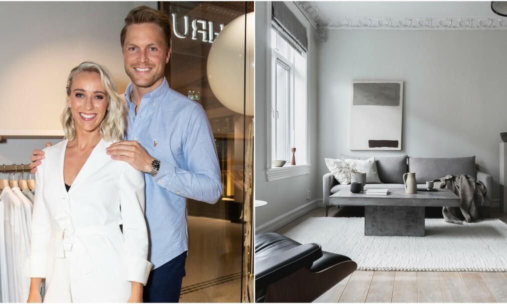 PÅ BOLIGJAKT: Katarina Flatland og ektemannen Harald Meling Dobloug selger leiligheten sin. Nå er de på jakt etter noe nytt. Foto: Andreas Fadum, Se og Hør/ Daniel Bergsagel