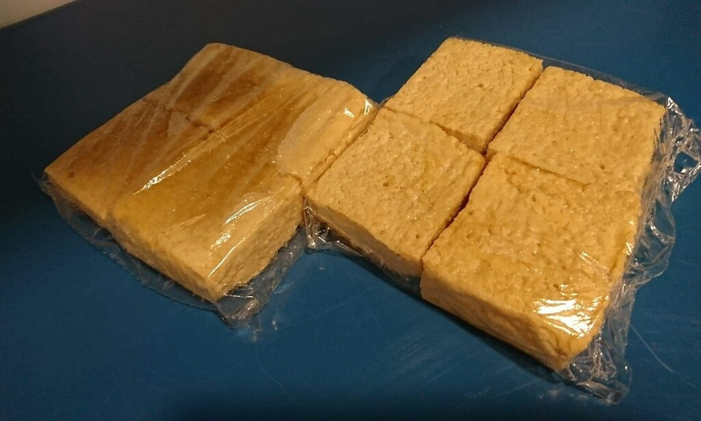 BESLAGLAGT: Slik så noe av tofuen Mattilsynet beslagla ut. Foto: Mattilsynet