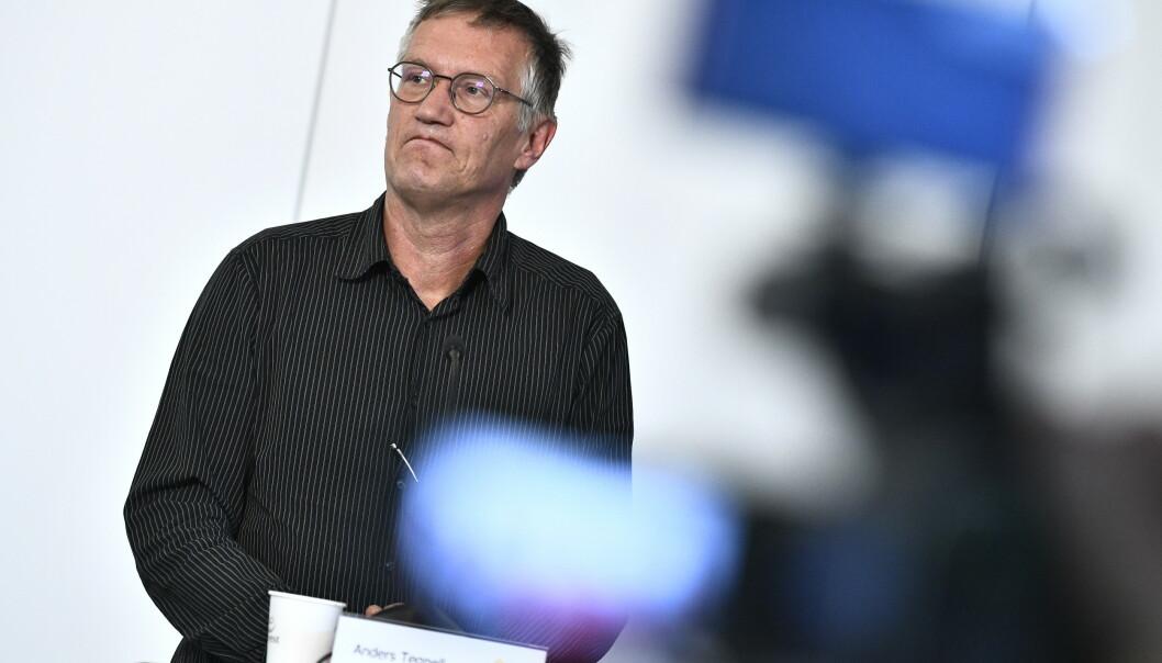 Statsepidemiolog Anders Tegnell sier helsemyndighetene undersøker om et barn kan ha dødd av covid-19. Foto: Claudio Bresciani/TT/ NTB scanpix