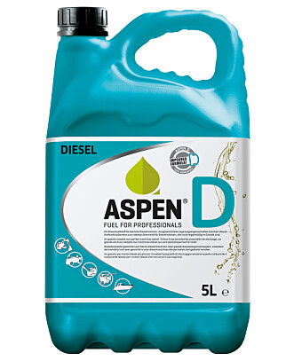 IKKE PÅ PUMPE: Du får Aspen D i 5 og 25 literskanner. Prisen ligger imidlertid skyhøyt over vanlig diesel. Foto: Aspen.