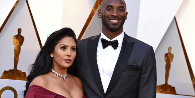 FILE - In this March 4, 2018, file photo, Kobe Bryant, right, and his wife Vanessa Bryant arrive at the Oscars at the Dolby Theatre in Los Angeles. Kobe Bryant's widow Vanessa Bryant has sued the owner of the helicopter that crashed in fog and killed her husband and her 13-year-old daughter last month. The wrongful death lawsuit filed by Vanessa Bryant in Los Angeles says the pilot was careless and negligent by flying in cloudy conditions and should have aborted the flight. The pilot was among the nine people killed in the crash. The lawsuit was filed as a public memorial service for Kobe Bryant and his daughter was being held at the arena where Bryant played most of his career.(Photo by Jordan Strauss/Invision/AP, File)
