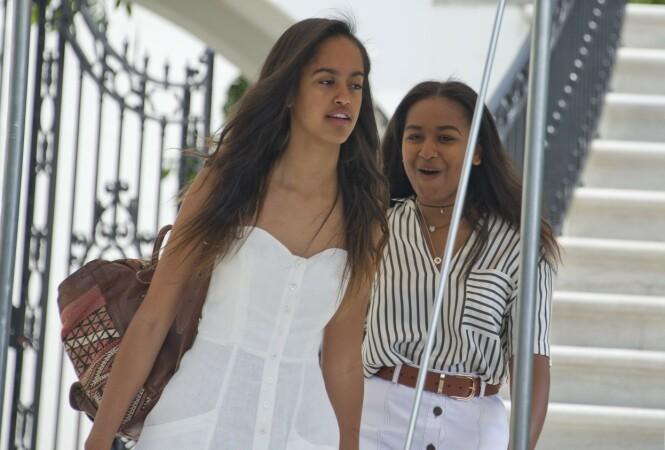 <strong>SØSTRE:</strong> Malia og Sasha er Michelle og Barack Obamas to barn. Nå er de blitt 21 og 18 år gamle. FOTO: NTB scanpix