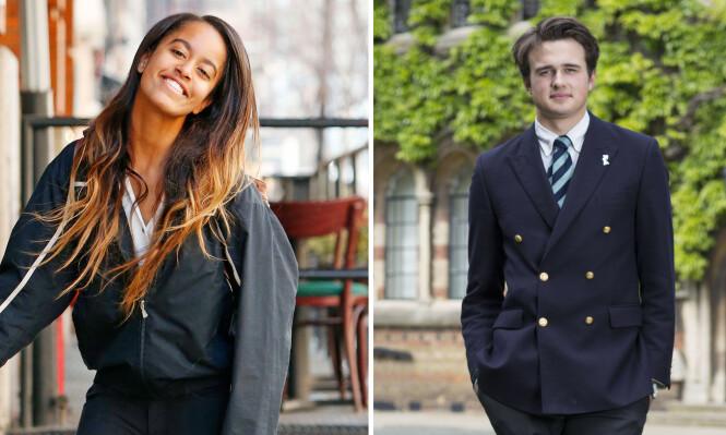 <strong>KJÆRESTER:</strong> Malia Obama har vært sammen med den britiske finanssønnen Rory Farquharson i litt over to år. De har foreløpig ikke bekreftet forholdet. FOTO: NTB scanpix