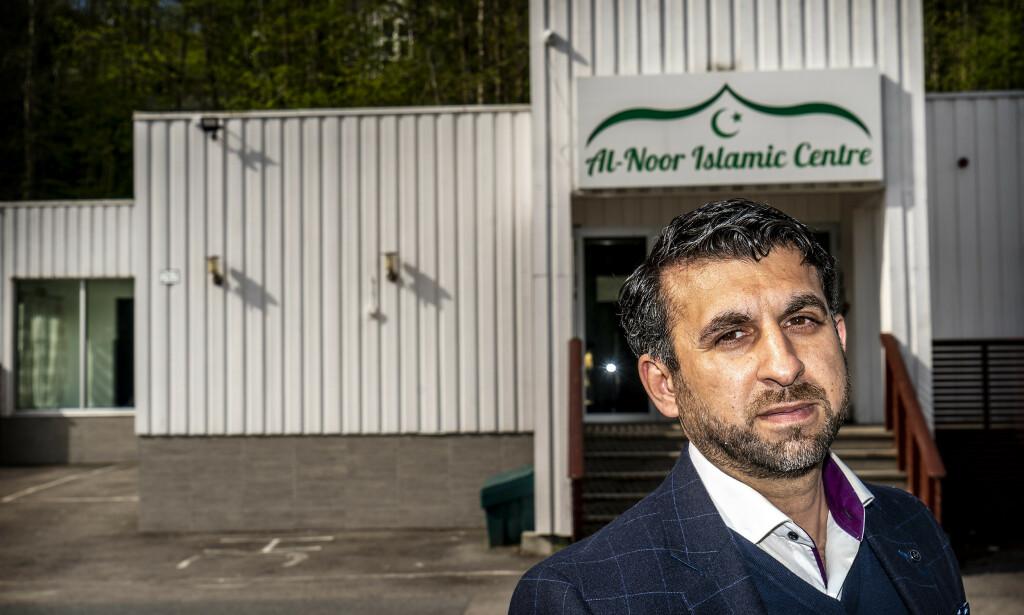 FRYKT: -Mange av medlemmene i moskeen frykter et nytt terrorangrep, forteller tidligere forstander i Al-Noor moskeen i Bærum Irfan Mushtaq. Mandag skal han vitne i straffesaken mot terroristen Philip Manshaus. Foto: Hans Arne Vedlog / Dagbladet