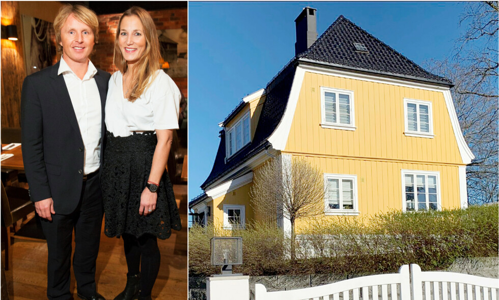 SOLGTE HUSET: Espen «Shampo» Knutsen og kona Fanny Jahre har solgt drømmevillaen på Ullern i Oslo med solid gevinst. Foto: Espen Solli, TV 2/ Trond Mæland, Se og Hør
