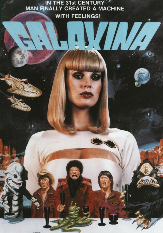 <strong>FØLSOM:</strong> Dorothy Strattens første filmroller begrenset seg til komedier og smalere genre. Som her, i rollen som roboten Galaxina, som viser seg å ha følelser. FOTO: NTB scanpix