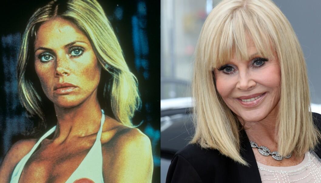 FRITTALENDE: Britt Ekland fotografert i forbindelse med sin Bond-rolle. De senere åra har hun blitt kjent for å skape drame i tv-serien Svenske Hollywoodfruer. Foto: NTB Scanpix