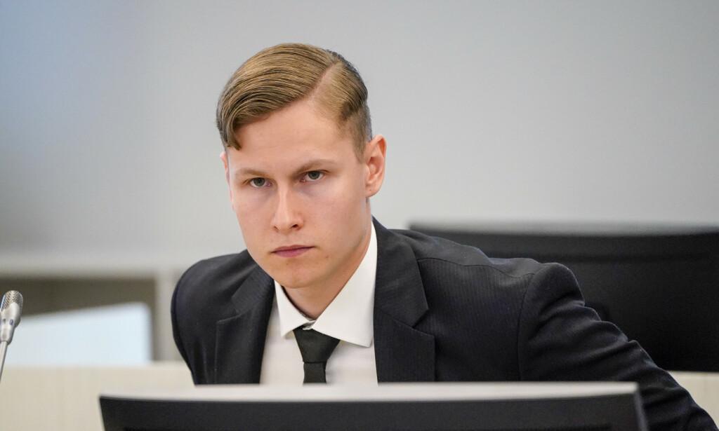 Tiltalte Philip Manshaus i retten torsdag. Foto: Lise Åserud / NTB scanpix