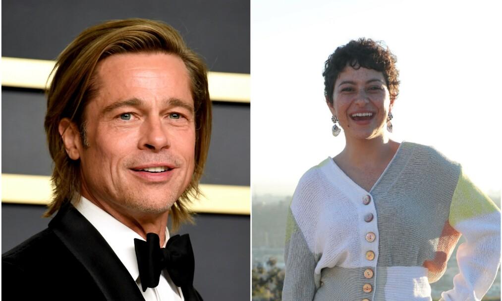 STÅR HVERANDRE NÆR: I rundt et halvt år har Brad Pitt og Alia Shawkat tilbrakt mye av fritiden sammen. Foto: NTB Scanpix