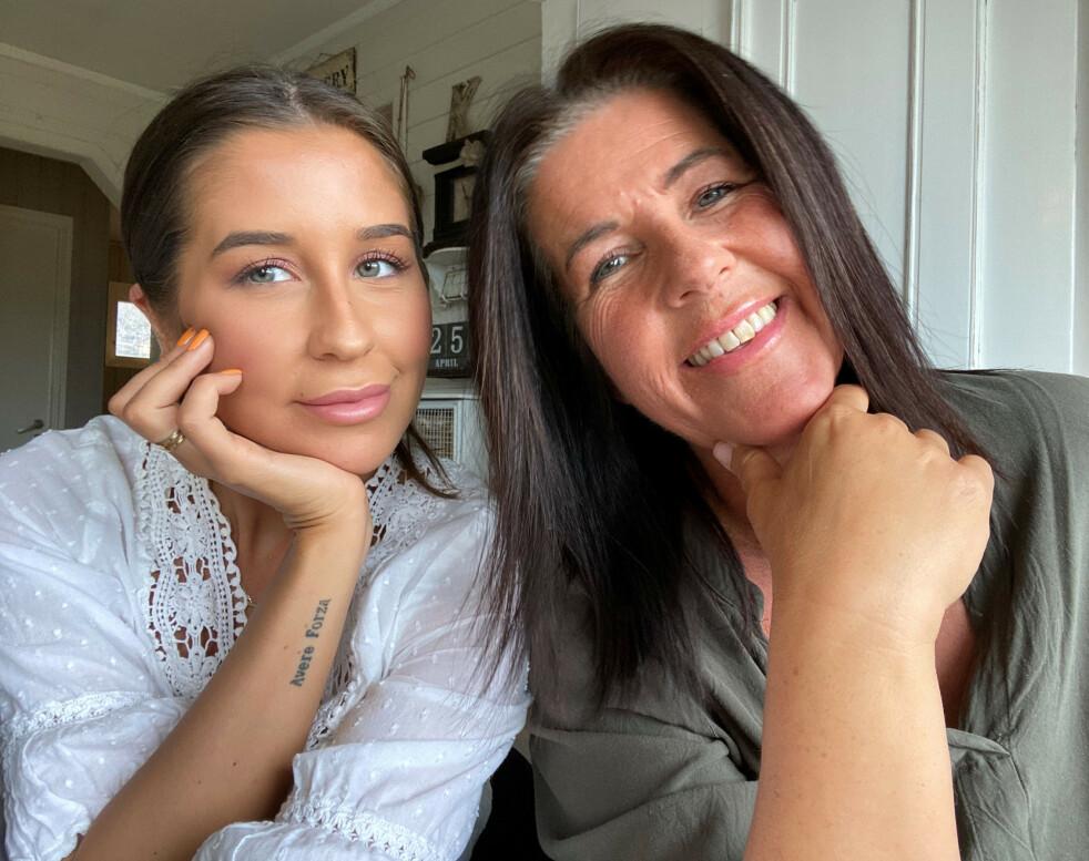 NÆRT BÅND: Paradise-aktuelle Ida og moren Lolita har et spesielt nært mor og datter-bånd. De snakker om alt med hverandre, og tror mye av grunnen til det er den tøffe tiden de gikk gjennom sammen da Ida var kreftsyk. FOTO: Privat