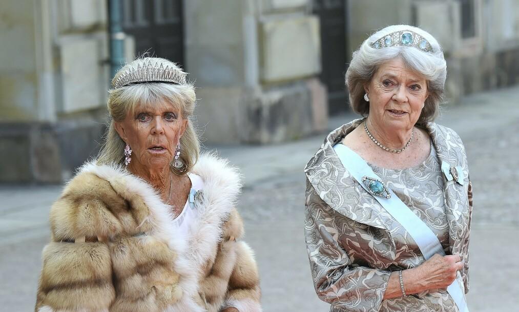 <strong>KONGENS SØSTRE:</strong> Svenske kong Carl Gustaf har fire søstre, men det er trolig prinsesse Birgitta (til venstre) som har skapt mest blest de senere årene. Nå forteller hun i et intervju med Expressen at hun har reist til Tyskland, etter å ha vært isolert med det svenske kongeparet i nær to måneder. Foto: NTB Scanpix