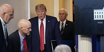 image: Trump-topper går i karantene